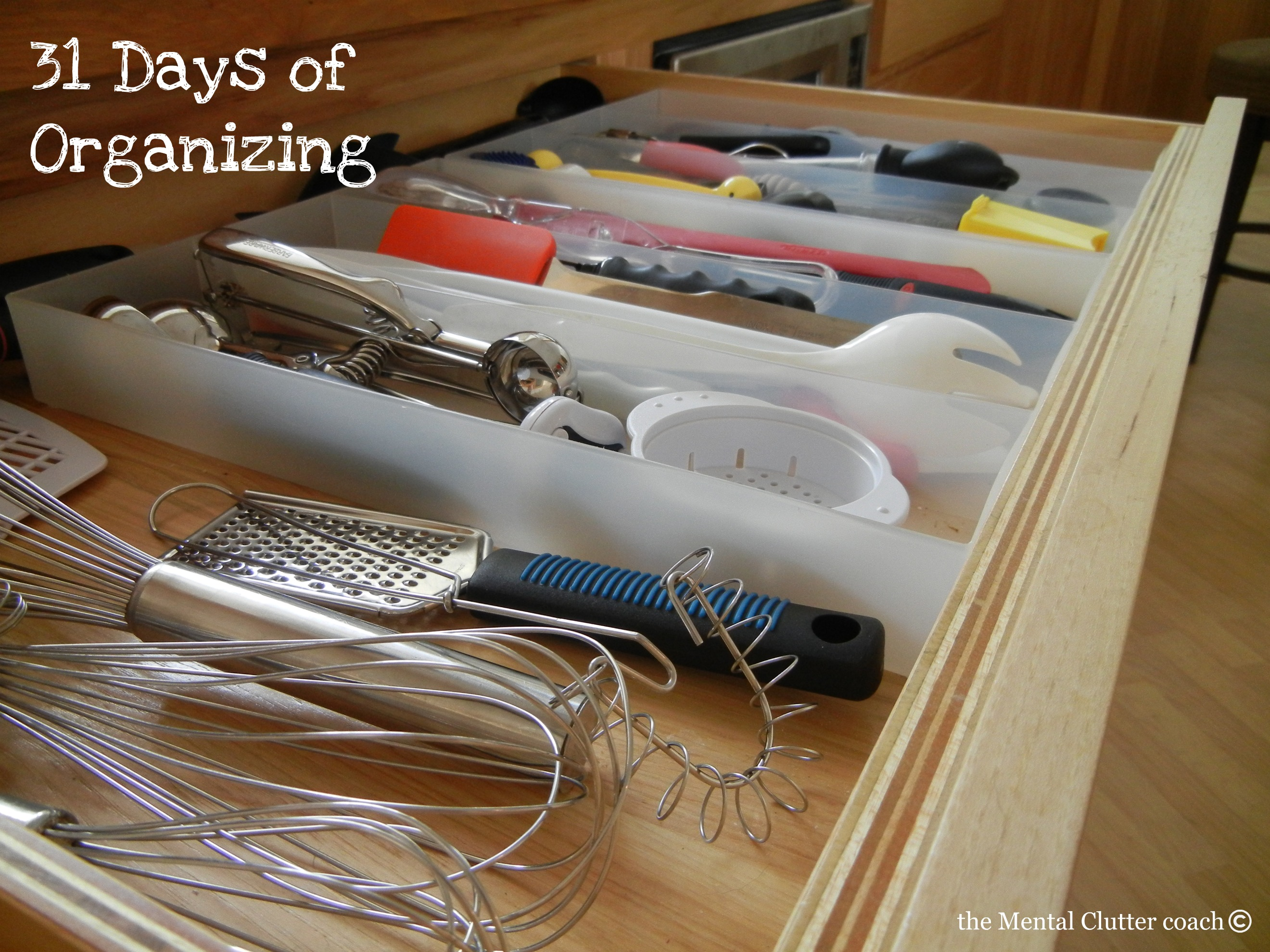 Kitchen Drawer Organizing Kitchen Clutter 31 Days Of Organizing The Mental Clutter Coach
